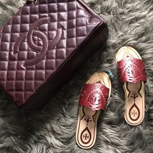 Tory Burch Annika slide sandal 37 7 new